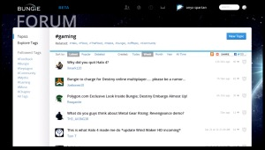 New forum layout with hashtag sorting
